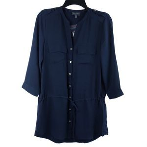 The Limited Navy Blue Tunic Style Top, Small, NWOT